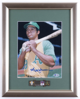 Reggie Jackson Signed Athletics 13x16 Custom Framed Display with Official Hall of Fame Pin (Beckett COA) (See Description) at PristineAuction.com