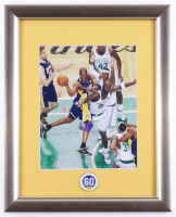 Kobe Bryant 13x16 Custom Framed Photo with Official 60th Anniversary Lakers Pin (See Description) at PristineAuction.com