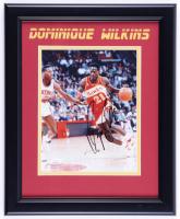 Dominique Wilkins Signed Hawks 13.5x16.5 Custom Framed Photo (JSA Hologram) (See Description) at PristineAuction.com