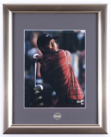 Tiger Woods 13x16 Custom Framed Photo with Official PGA Tour Pin (See Description) at PristineAuction.com