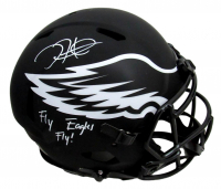"""Jalen Hurts Signed Eagles Full-Size Authentic On-Field Eclipse Alternate Speed Helmet Inscribed """"Fly Ealges Fly!"""" (PSA COA) at PristineAuction.com"""