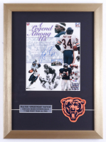 Walter Payton Signed 14x19 Custom Framed Display with Bears Cloth Patch (PSA LOA) (See Description) at PristineAuction.com