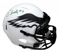 DeVonta Smith Signed Eagles Full-Size Lunar Eclipse Alternate Speed Helmet (JSA COA) at PristineAuction.com