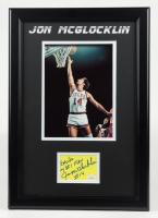 "Jon McGlocklin Signed Bucks 13.5x16.5 Custom Framed Cut Display Inscribed ""My #1 Fan"" (JSA COA) at PristineAuction.com"