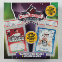 2021 Championship Collection Football Mega Box with (7) Packs at PristineAuction.com