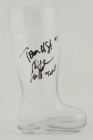 "Erik Stolhanske Signed Boot Glass Inscribed ""Team USA"" & ""Todd"" at PristineAuction.com"