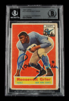 Roosevelt Grier Signed 1956 Topps #101 RC (BGS Encapsulated) at PristineAuction.com