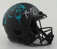 Luke Kuechly Signed Panthers Full-Size Eclipse Alternate Speed Helmet (Beckett COA) at PristineAuction.com
