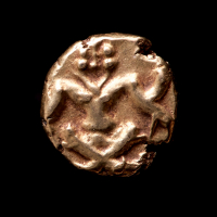 (1700-1800) India, Mughal Empire Fanam Gold Coin at PristineAuction.com