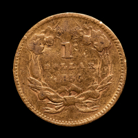 1856 Indian Princess Head $1 One Dollar Gold Coin at PristineAuction.com