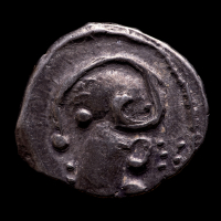 2nd-1st Centuries B.C. Celtic Gaul, Lingones Tribe Ancient Silver Coin at PristineAuction.com