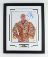 """Ric Flair Signed WWE 18x22 Custom Framed Photo Display Inscribed """"16X"""" (PSA COA) at PristineAuction.com"""