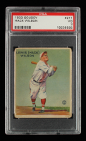 Hack Wilson 1933 Goudey #211 RC (PSA 3) at PristineAuction.com