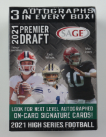 2021 Sage Hit High Series Football Blaster Box With (63) Cards at PristineAuction.com