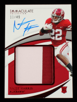 Najee Harris 2021 Immaculate Collection Collegiate Premium Patch Rookie Autographs Ruby #114 #11/49 at PristineAuction.com