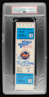 """Darryl Strawberry Signed 1986 World Series Game 2 Ticket Inscribed """"86 WS Champs"""" (PSA Encapsulated) at PristineAuction.com"""