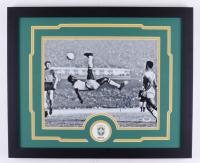 Pele Signed Team Brasil 18x22 Custom Framed Photo Display (PSA Hologram) at PristineAuction.com