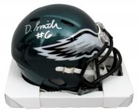 DeVonta Smith Signed Eagles Speed Mini Helmet (JSA COA) at PristineAuction.com