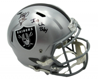 """Jon Gruden Signed Raiders Full-Size Speed Helmet Inscribed """"Just Win Baby"""" (Beckett Hologram) at PristineAuction.com"""