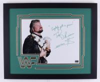 """Ted DiBiase Signed 18x22 Custom Framed Photo Display Inscribed """"Everybody's got  price!"""" & """"HOF 2010 $"""" (Fiterman Sports Hologram) at PristineAuction.com"""