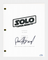 """Ron Howard Signed """"Solo: A Star Wars Story"""" Movie Script (AutographCOA COA) at PristineAuction.com"""