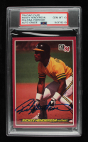 Rickey Henderson Signed 1984 Donruss Action All-Stars #9 (PSA Encapsulated) at PristineAuction.com