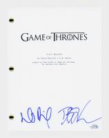 "David Benioff & D.B. Weiss Signed ""Game of Thrones"" Pilot Episode Script (AutographCOA COA) at PristineAuction.com"