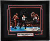 """Mike Tyson Signed 18x22 """"The Bite Fight"""" Custom Framed Photo (Tyson Hologram) at PristineAuction.com"""