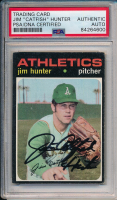 "Jim ""Catfish"" Hunter Signed 1971 Topps #45 Baseball Card (PSA Encapsulated) at PristineAuction.com"