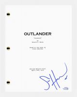 "Sam Heughan Signed ""Outlander"" Pilot Episode Script (AutographCOA COA) at PristineAuction.com"
