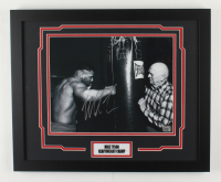 Mike Tyson Signed 18x22 Custom Framed Photo Display (Tyson Hologram) (See Description) at PristineAuction.com