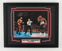 """Mike Tyson Signed """"Tyson VS Holyfield"""" 18x22 Custom Framed Photo Display (Tyson Hologram) (See Description) at PristineAuction.com"""