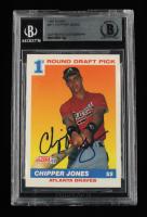 Chipper Jones Signed 1991 Score #671 RC (BGS Encapsulated) at PristineAuction.com