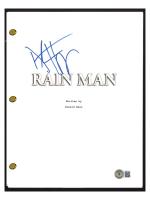 "Dustin Hoffman Signed ""Rain Man"" Movie Script (Beckett COA) at PristineAuction.com"
