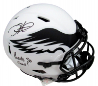 """Jalen Hurts Signed Eagles Full-Size Authentic On-Field Lunar Eclipse Alternate Speed Helmet Inscribed """"Hurts So Good!"""" (PSA COA) at PristineAuction.com"""