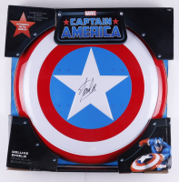 """Stan Lee Signed """"Captain America"""" Marvel Authentic Full-Size Metal Shield (JSA COA) (See Description) at PristineAuction.com"""