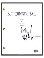 "Jeffrey Dean Morgan Signed ""Supernatural"" Pilot Episode Script (Beckett COA) at PristineAuction.com"