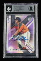 Joey Bart Signed 2019 Bowman Platinum Top Prospects Purple #TOP4 017/250 (BGS Encapsulated) at PristineAuction.com