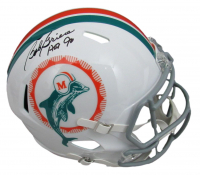 """Bob Griese Signed Dolphins Full-Size Speed Helmet Inscribed """"HOF 90"""" (Beckett COA) at PristineAuction.com"""