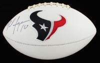 DeAndre Hopkins Signed Texans Logo Football (Fanatics Hologram) at PristineAuction.com