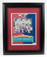 Enos Slaughter, Terry Moore & Stan Musial Signed Cardinals 13.5x16.5 Custom Framed Yearbook Display (JSA COA) (See Description) at PristineAuction.com