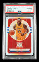 LeBron James 2019-20 Panini Chronicles Silver #561 Hometown Heroes Optic (PSA 10) at PristineAuction.com