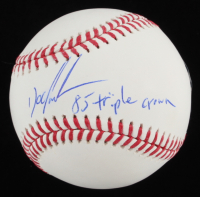 """Dwight """"Doc"""" Gooden Signed OML Baseball Inscribed """"85 Triple Crown"""" (PSA COA) at PristineAuction.com"""