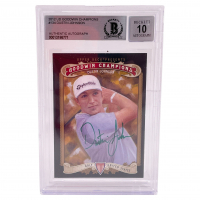 Dustin Johnson Signed 2012 UD Goodwin Champions #134 RC (BGS Encapsulated) at PristineAuction.com