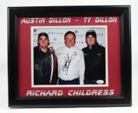 Richard Childress, Austin Dillon & Ty Dillon Signed 13.5x16.5 Custom Framed Photo Display (JSA COA) (See Description) at PristineAuction.com