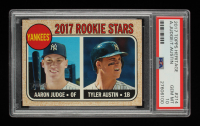 Aaron Judge RC / Tyler Austin RC 2017 Topps Heritage #214A (PSA 10) at PristineAuction.com