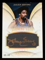 Julius Erving 2013-14 Immaculate Collection Scorers Club Autographs #18 #08/49 at PristineAuction.com
