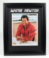 "Wayne Newton Signed 13.5x16.5 Custom Framed Photo Display Inscribed ""Best Wishes"" (JSA COA) (See Description) at PristineAuction.com"