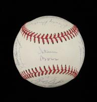 1984 Athletics Logo Baseball Team-Signed by (26) with Rickey Henderson, Billy Williams, Davey Lopes, Dave Kingman (JSA ALOA) at PristineAuction.com