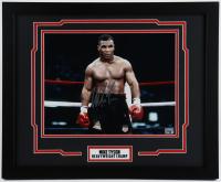 Mike Tyson Signed 18x22 Custom Framed Photo (Tyson Hologram) at PristineAuction.com